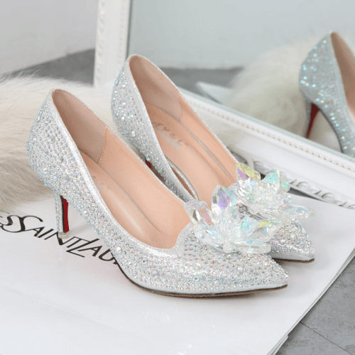 Cinderella Crystal Pointed Shoes