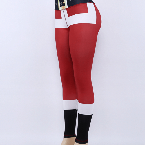 Women Christmas Design Ankle-length Leggings