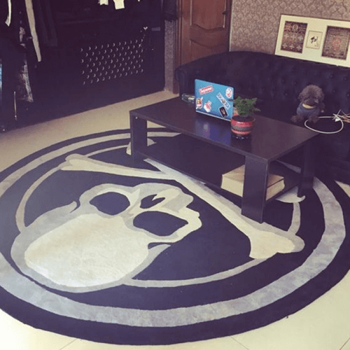 Skull Design Bedroom Rug