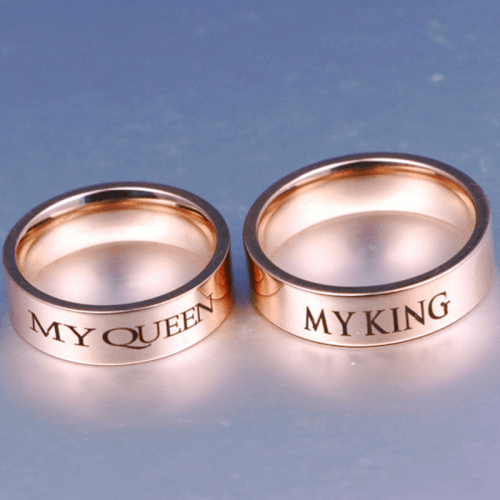 King And Queen Stainless Steel Ring